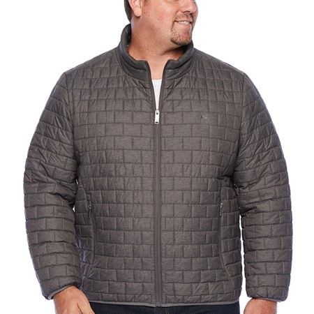 Dockers Wind Resistant Water Resistant Midweight Puffer Jacket - Big and Tall, 3x-large Tall , Gray
