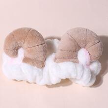 Cartoon Sheep Horn Decor Shower Headband