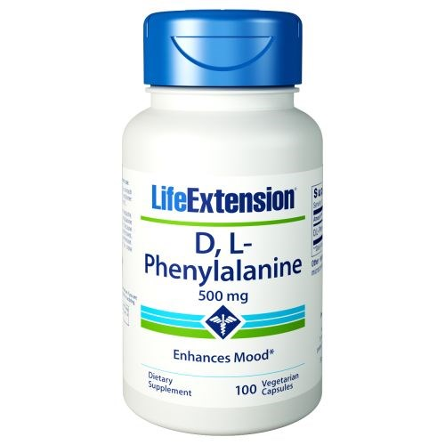 D - L-Phenyalanine 100 Vcaps by Life Extension