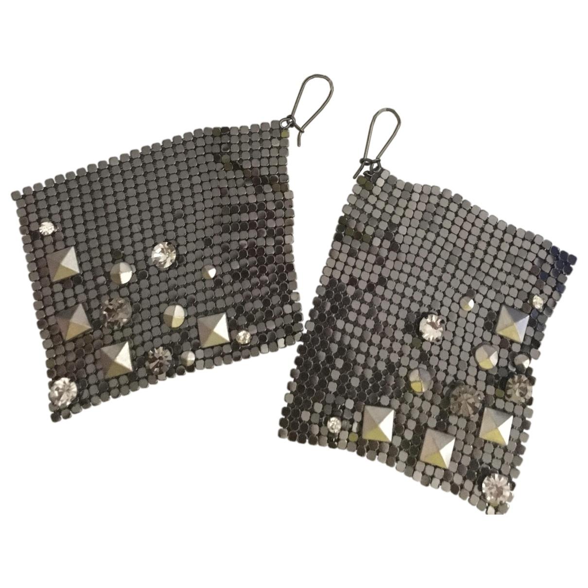 Jimmy Choo For H&m - Boucles doreilles   pour femme en metal - anthracite
