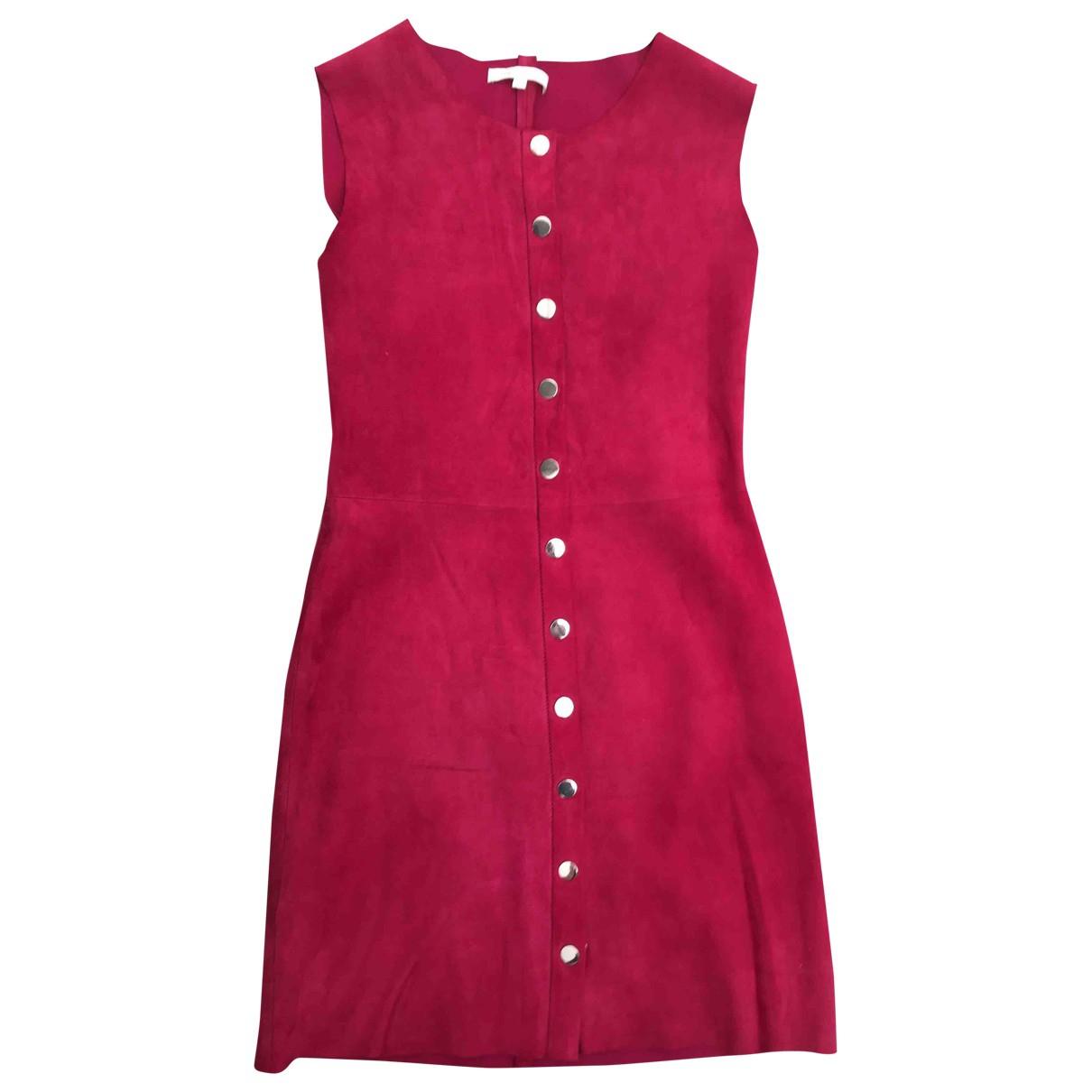 Maje \N Kleid in  Rot Veloursleder