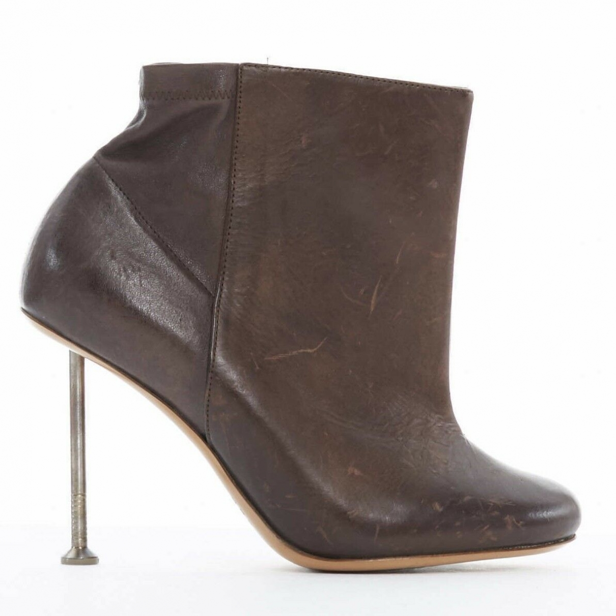 Maison Martin Margiela \N Brown Leather Ankle boots for Women 37 EU