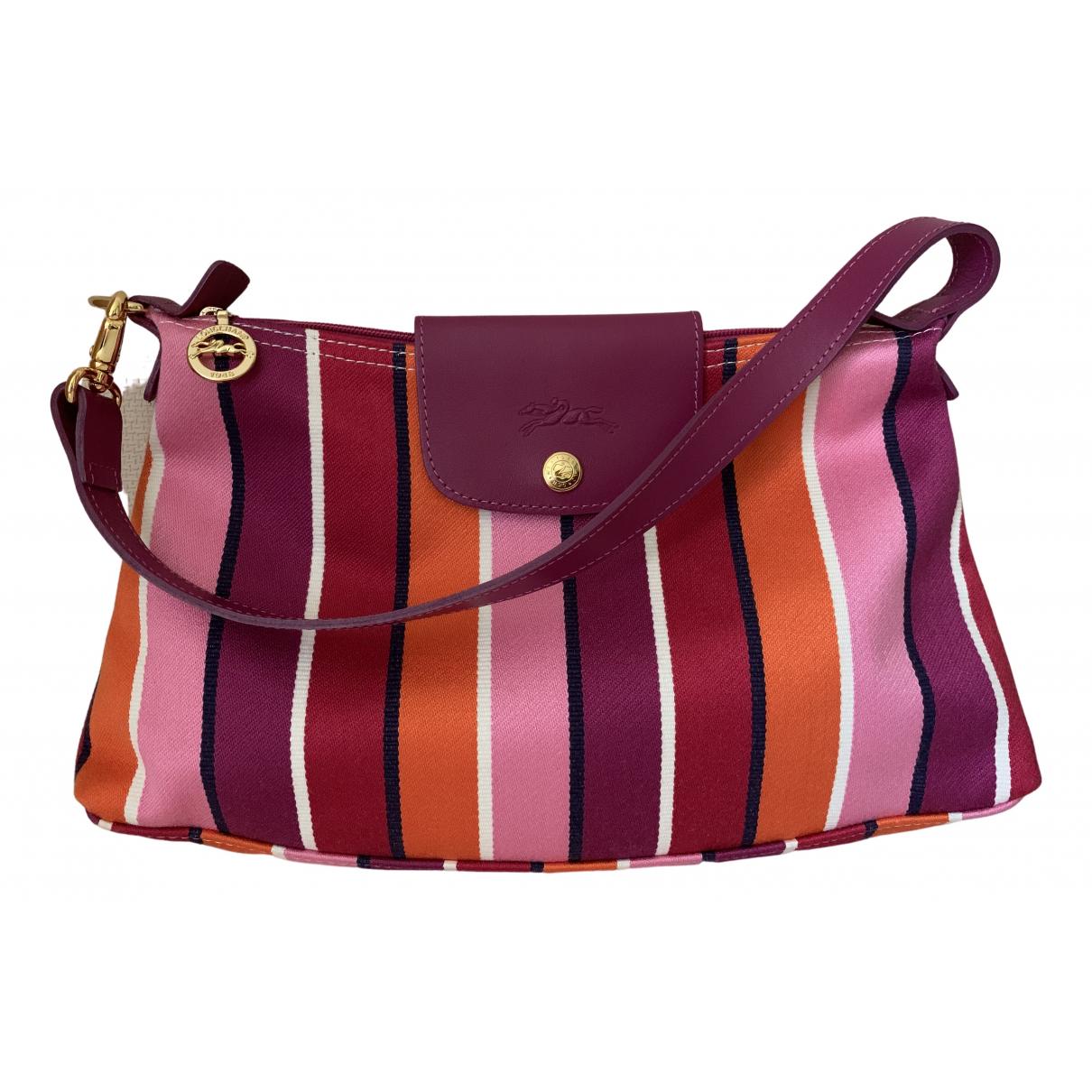 Longchamp - Sac a main   pour femme en toile - multicolore