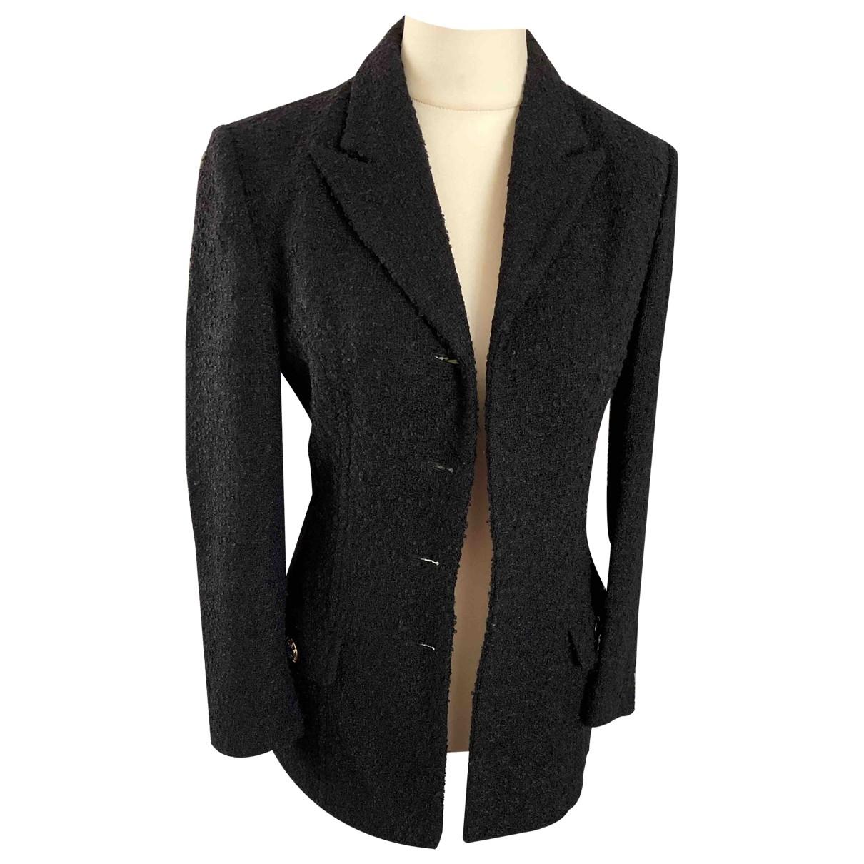 Versace - Veste   pour femme en laine - noir