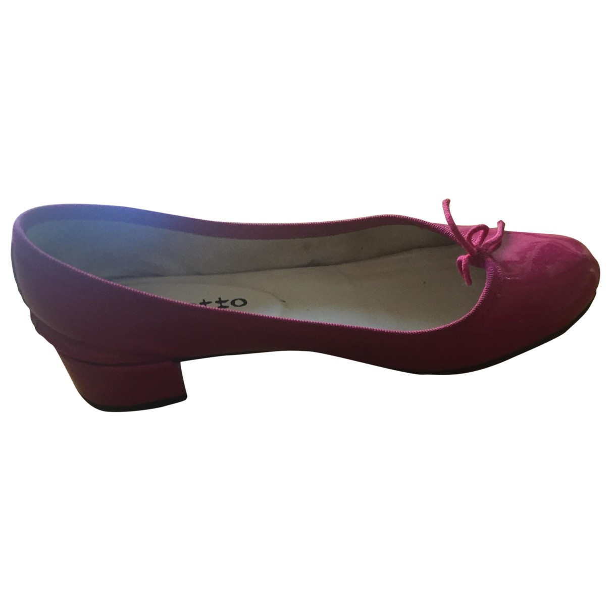 Repetto \N Pink Patent leather Ballet flats for Women 37.5 EU