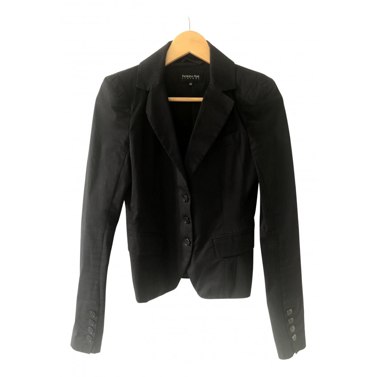 Patrizia Pepe N Blue Cotton jacket for Women 42 IT