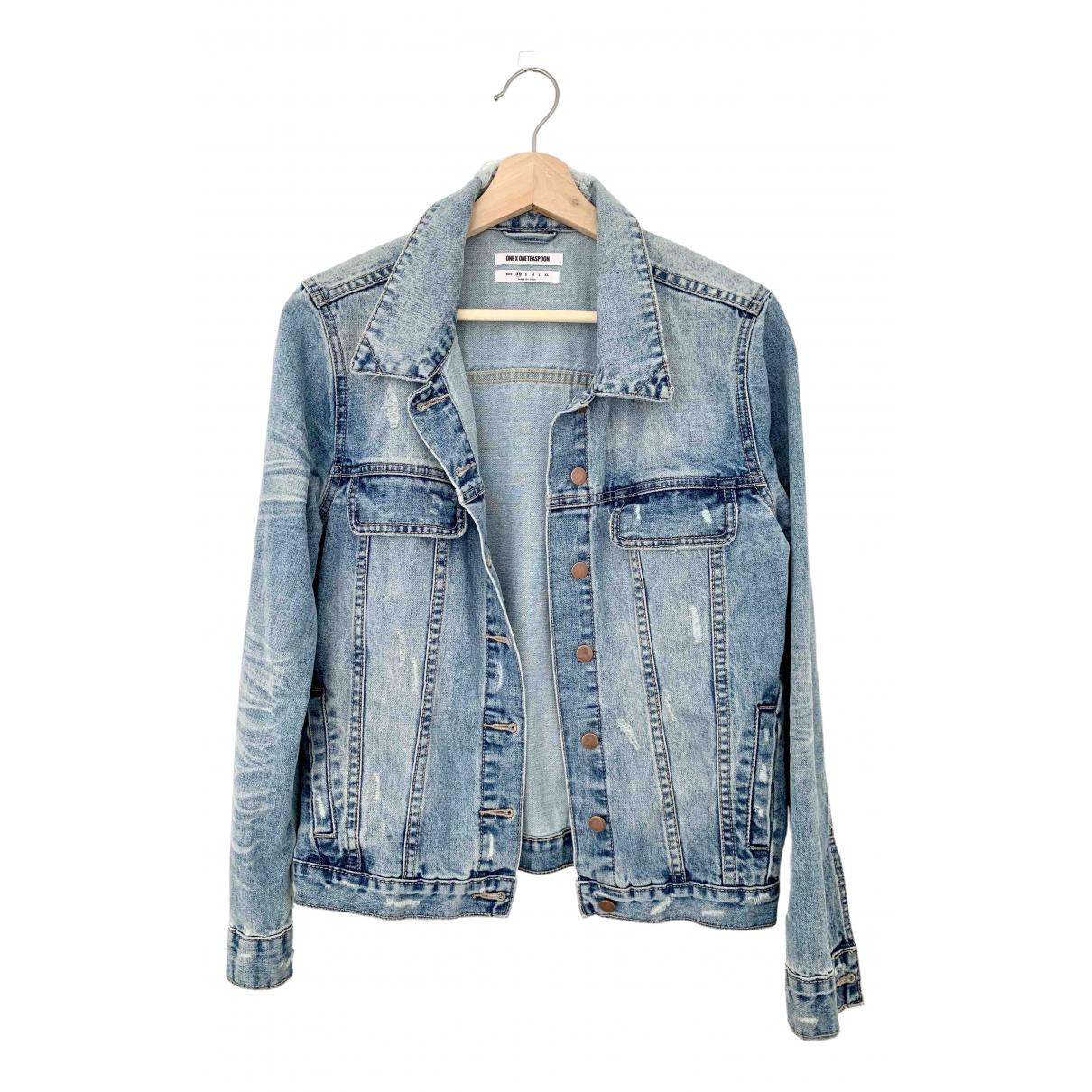 One Teaspoon \N Jacke in  Blau Denim - Jeans