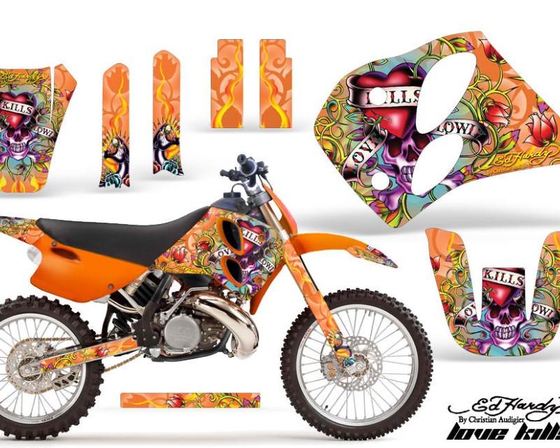 AMR Racing Dirt Bike Graphics Kit Decal Sticker Wrap For KTM SX/XC/EXC/LC2 1993-1997áEDHLK ORANGE