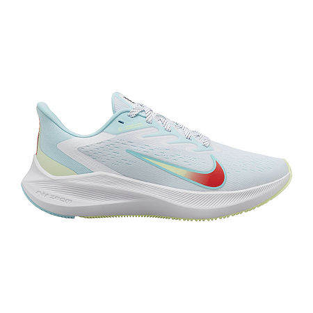 Nike Zoom Winflo 7 Womens Running Shoes, 6 Medium, White