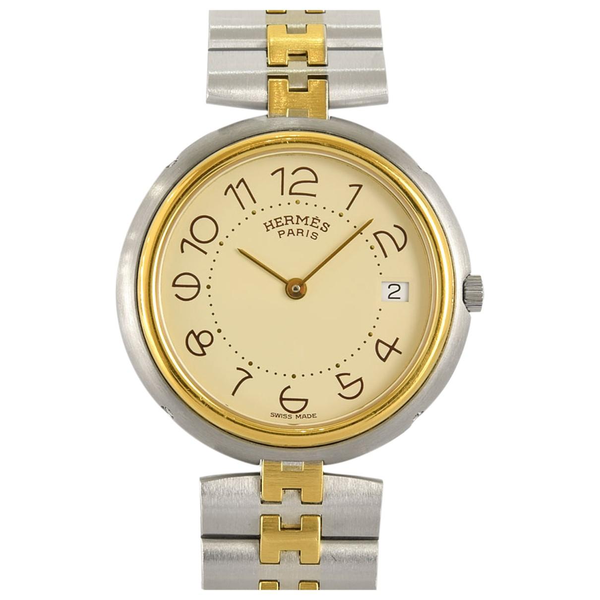 Hermès N Beige Steel watch for Men N