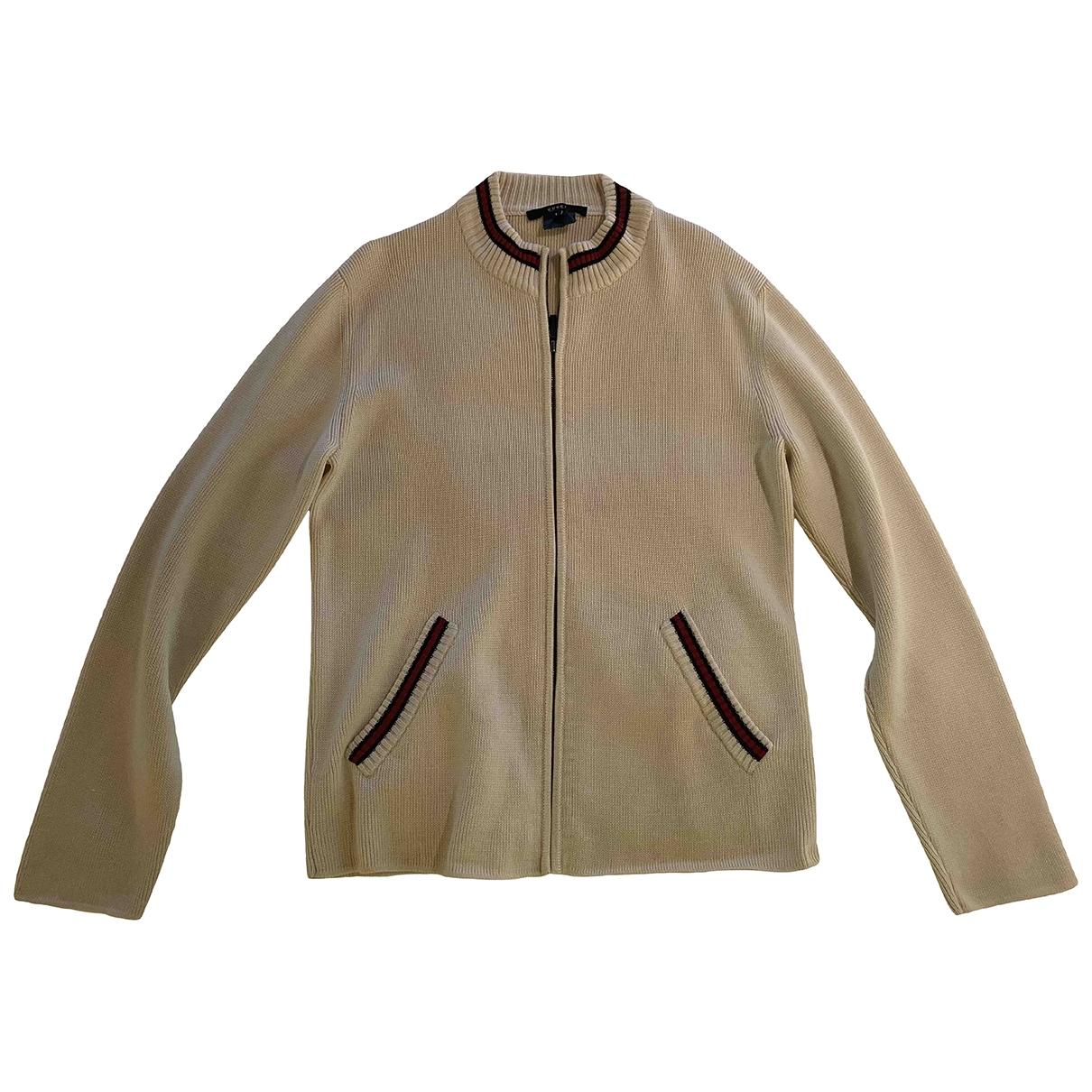 Gucci \N Pullover.Westen.Sweatshirts  in  Beige Wolle