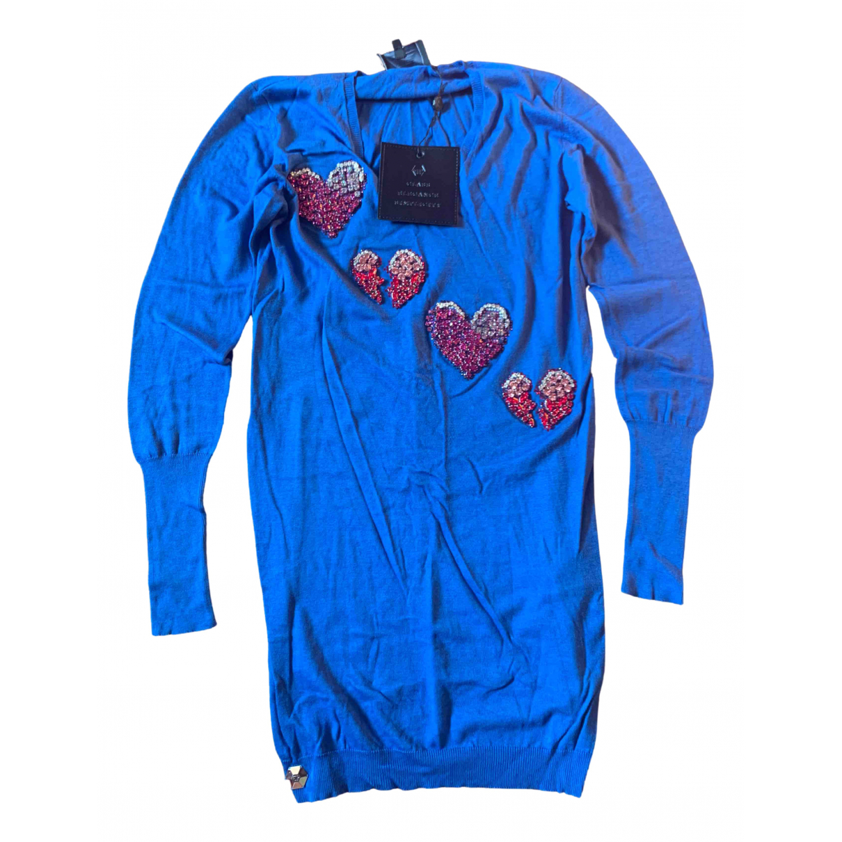Philipp Plein \N Blue Cotton dress for Women S International