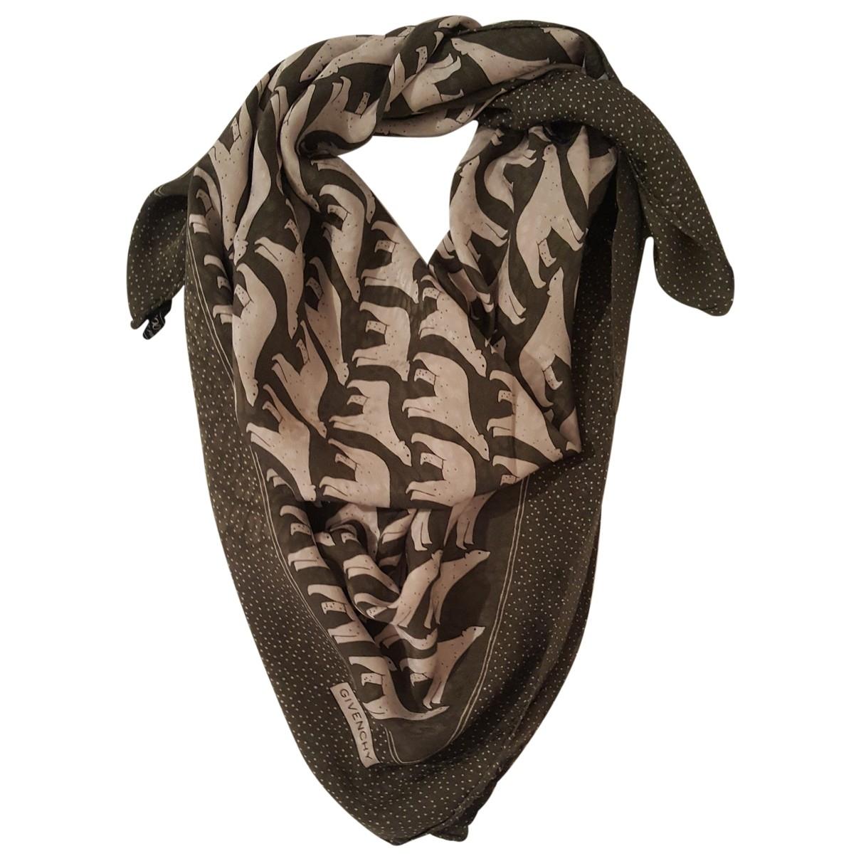Givenchy - Foulard   pour femme en soie - vert