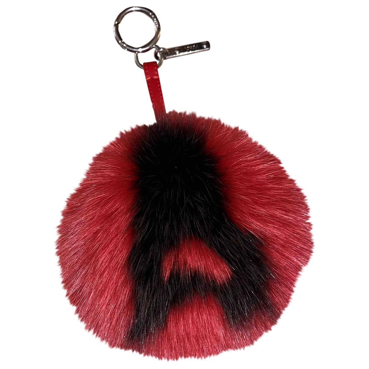 Fendi - Bijoux de sac ABCharm pour femme en vison - rouge
