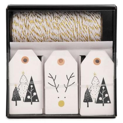 Holiday Gift Tags & Twine Set