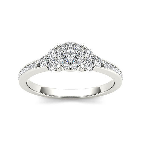 1/2 CT. T.W. Diamond 10K White Gold Engagement Ring, 7 1/2 , No Color Family