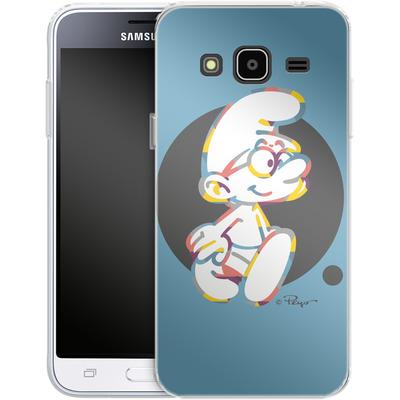 Samsung Galaxy J3 (2016) Silikon Handyhuelle - Rainbow Smurf von The Smurfs