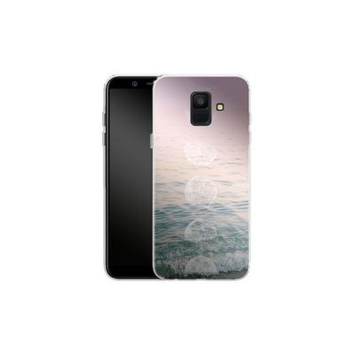 Samsung Galaxy A6 Silikon Handyhuelle - Moontime Beach von Emanuela Carratoni