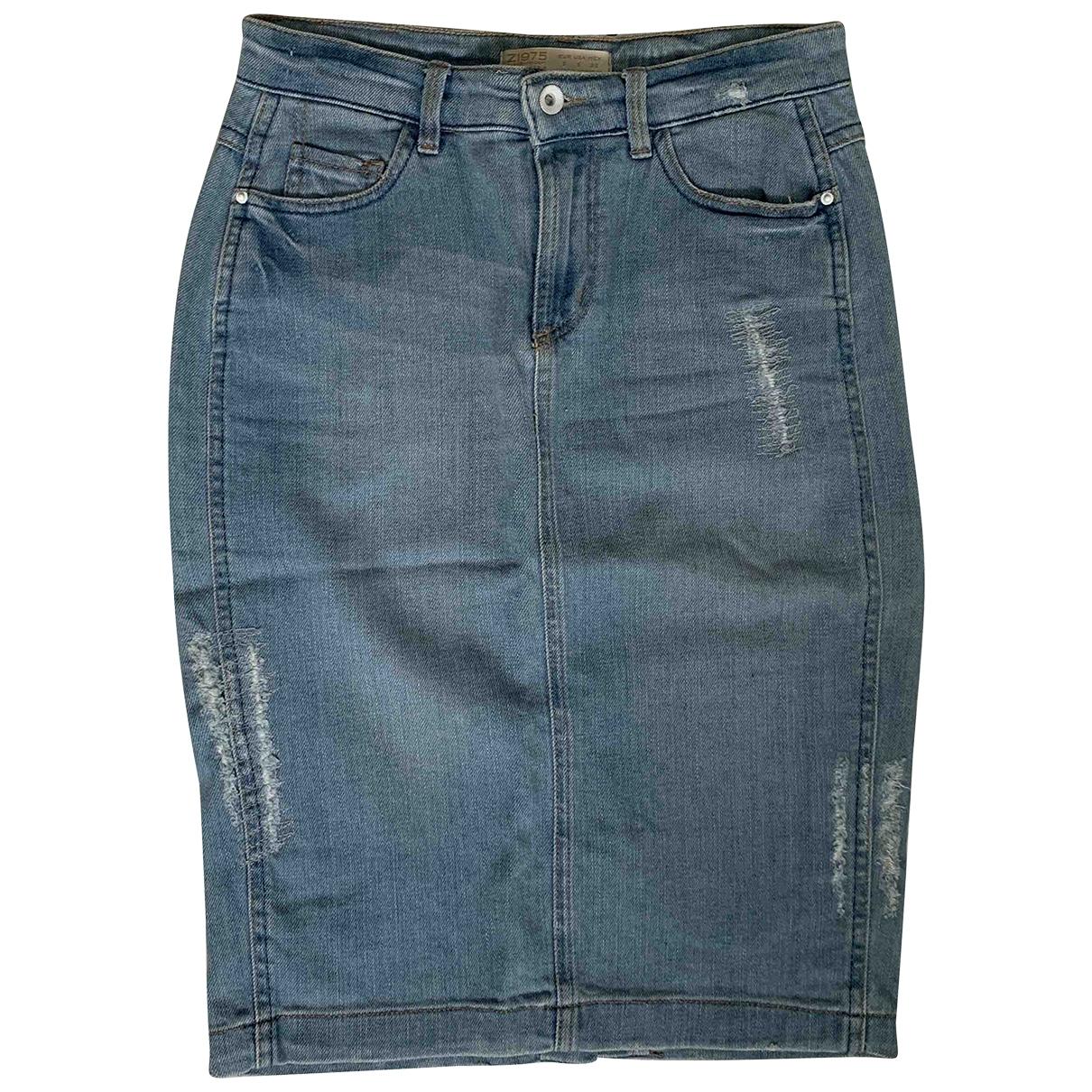 Zara \N Rocke in  Blau Denim - Jeans