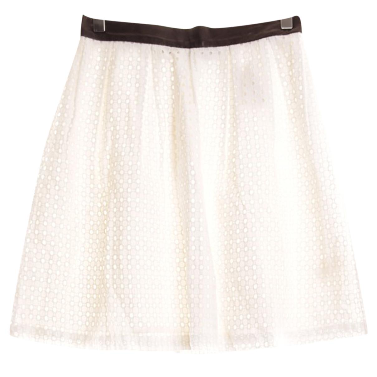 Rebecca Minkoff - Jupe   pour femme en coton - blanc