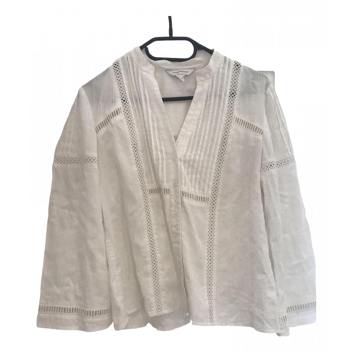 Club Monaco - Top   pour femme en coton - blanc