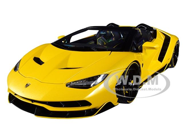 Lamborghini Centenario Roadster Giallo Inti / Pearl Yellow 1/18 Model Car by Autoart