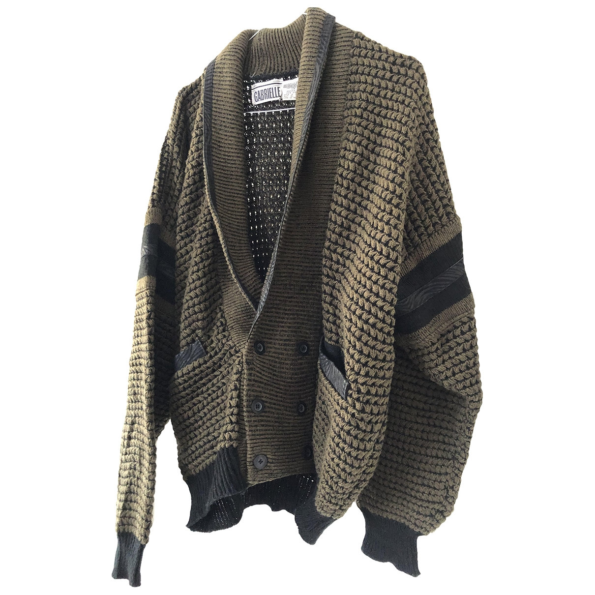 Non Signe / Unsigned Oversize Jacke in  Bunt Wolle
