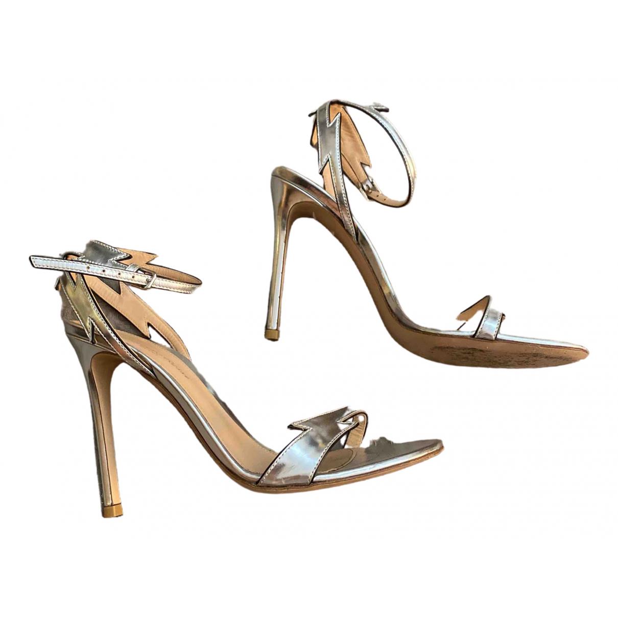 Gianvito Rossi - Sandales   pour femme en cuir - argente