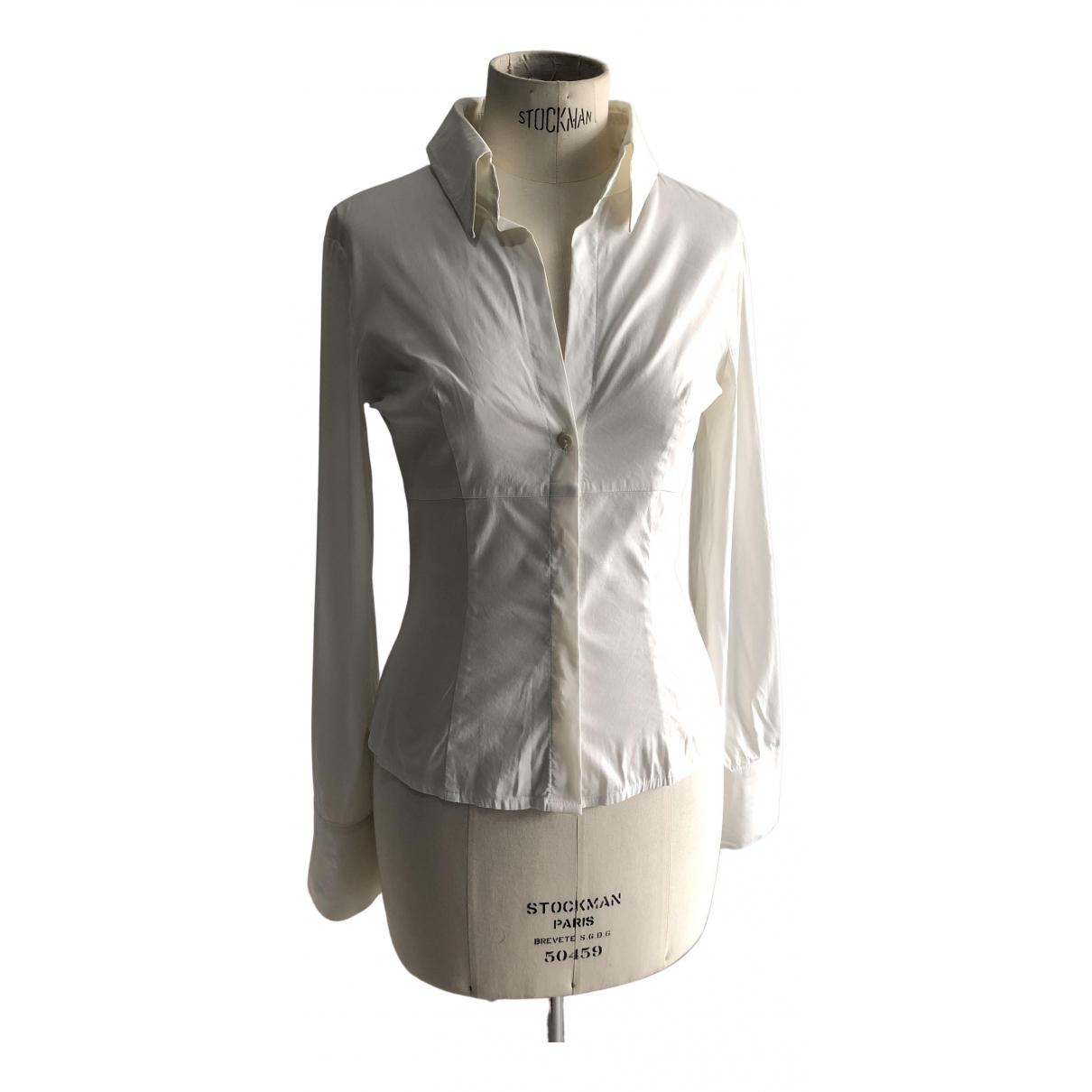 Flavio Castellani - Top   pour femme en coton - blanc