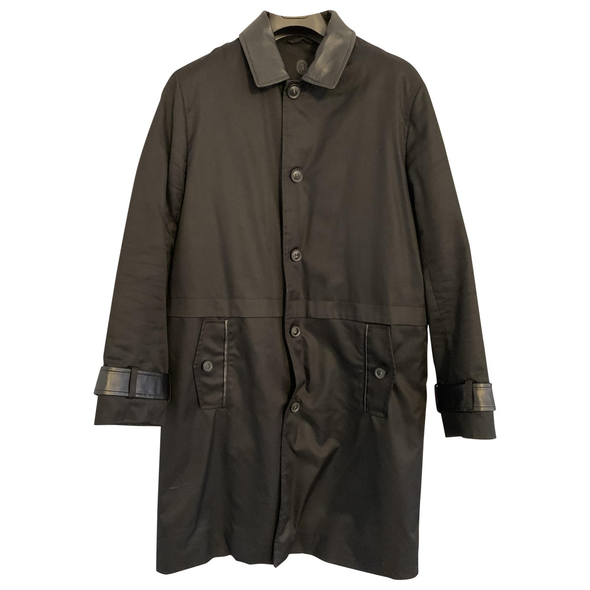 Trussardi \N Black Cotton jacket  for Men 50 IT