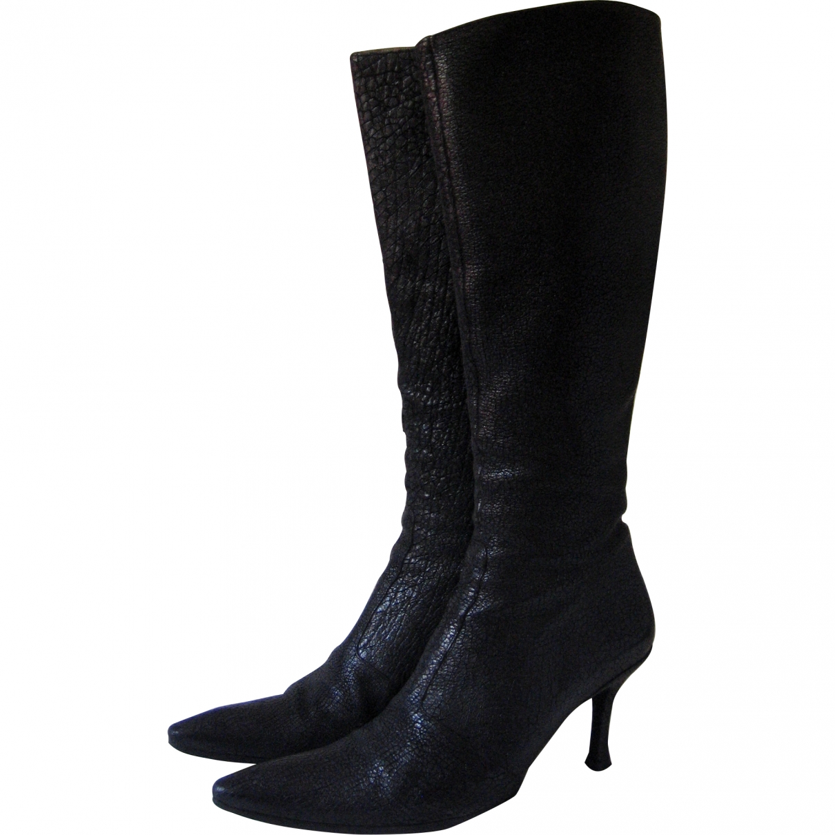 Free Lance \N Black Leather Boots for Women 38.5 EU