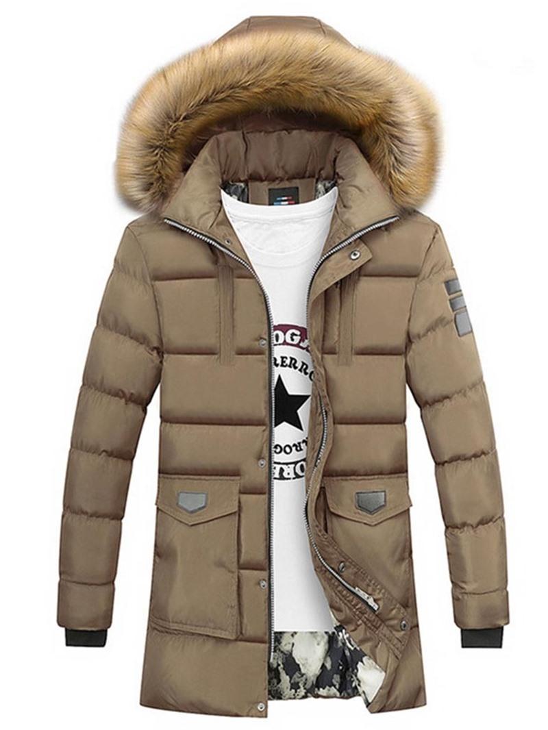 Ericdress Patchwork Color Block Casual Zipper Men's Down Jacket
