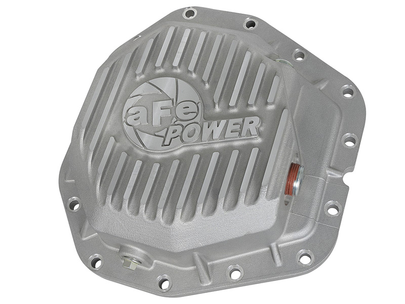 aFe POWER 46-70380 Rear Differential Cover, Raw Finish; Street Series Ford F-350/F-450 2017-2019 V8-6.7L (td) Dana M300-14 (Dually)