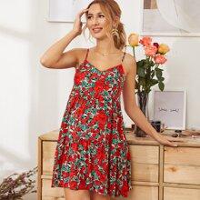 Maternity Floral Print Slip Dress