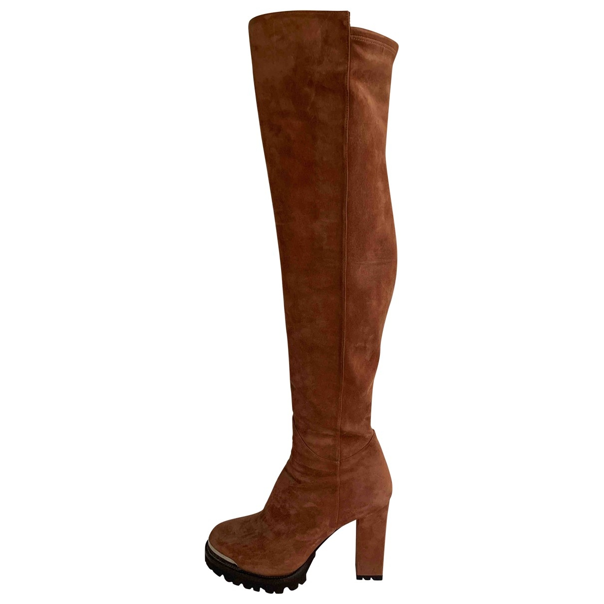 Non Signe / Unsigned \N Stiefel in Veloursleder