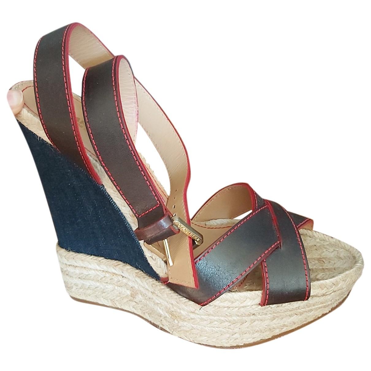 Sandalias de Cuero Dsquared2