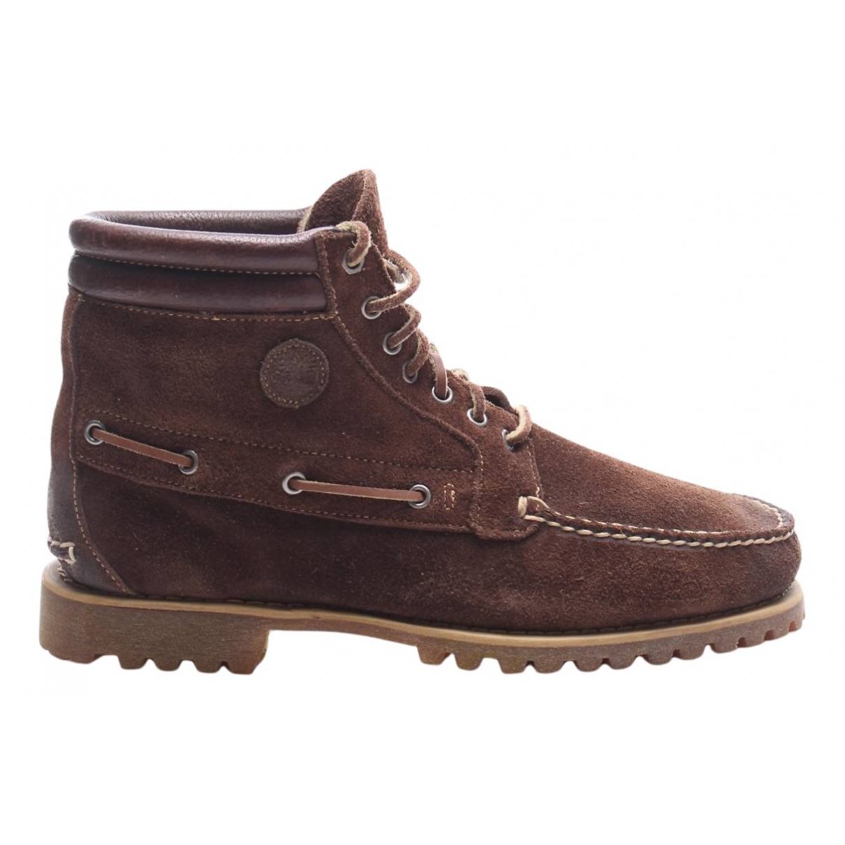 Timberland N Brown Leather Boots for Men 45 EU