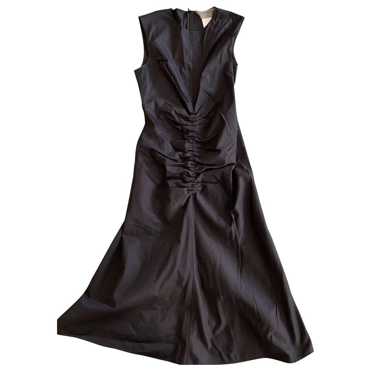 Sport Max \N Kleid in  Schwarz Baumwolle