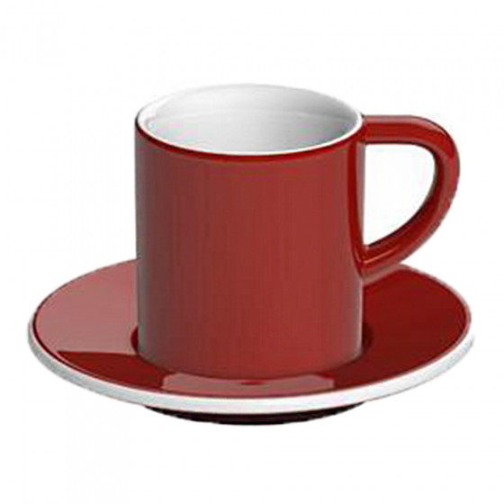"Espressotasse mit Untertasse Loveramics ""Bond Red"", 80 ml"