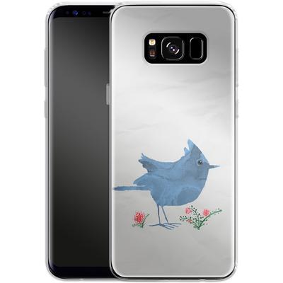 Samsung Galaxy S8 Silikon Handyhuelle - Watercolour Bird White von caseable Designs