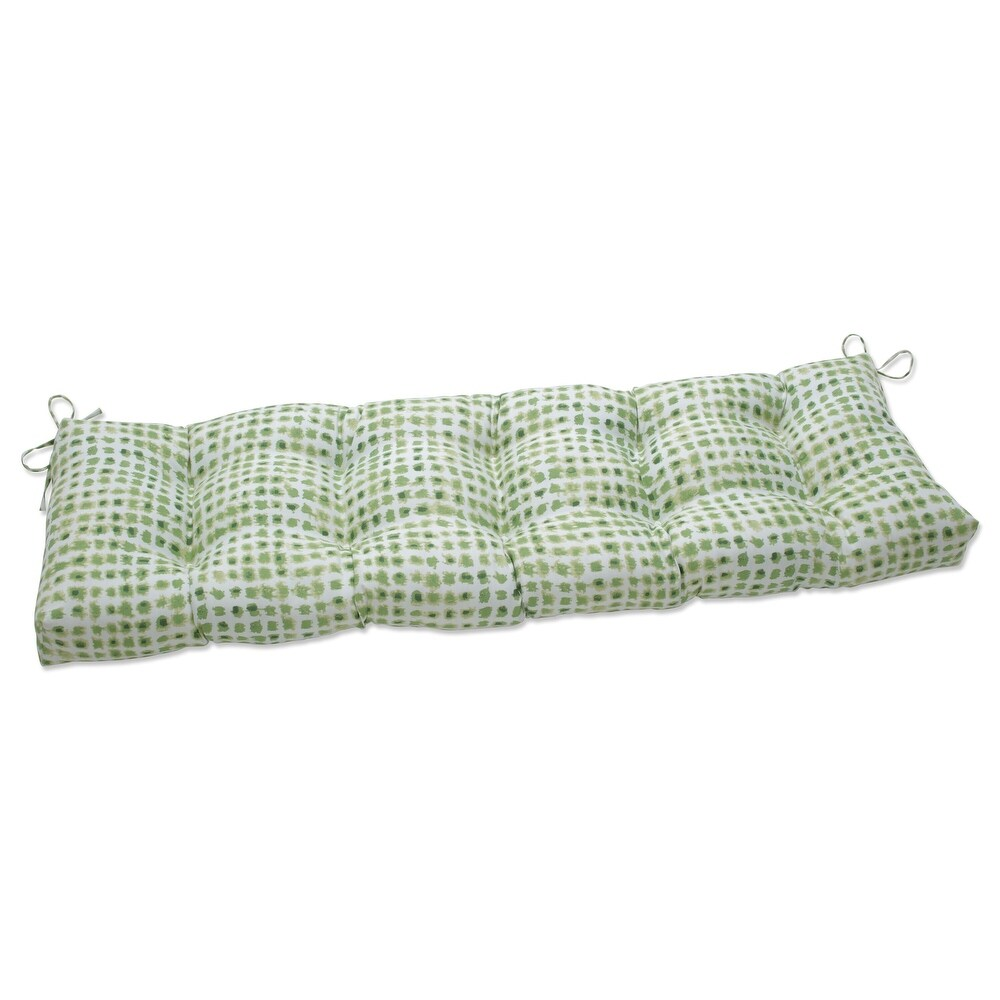 Pillow Perfect Outdoor   Indoor Alauda Grasshopper Outdoor Tufted Bench Swing Cushion 52 X 18 X 5 (Green)