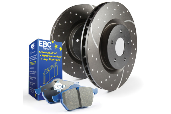 EBC Brakes S6KF1102 S6KF Kit Number Front Disc Brake Pad and Rotor Kit DP51210NDX+GD7426 Ford Mustang Front 2011-2014 5.0L V8