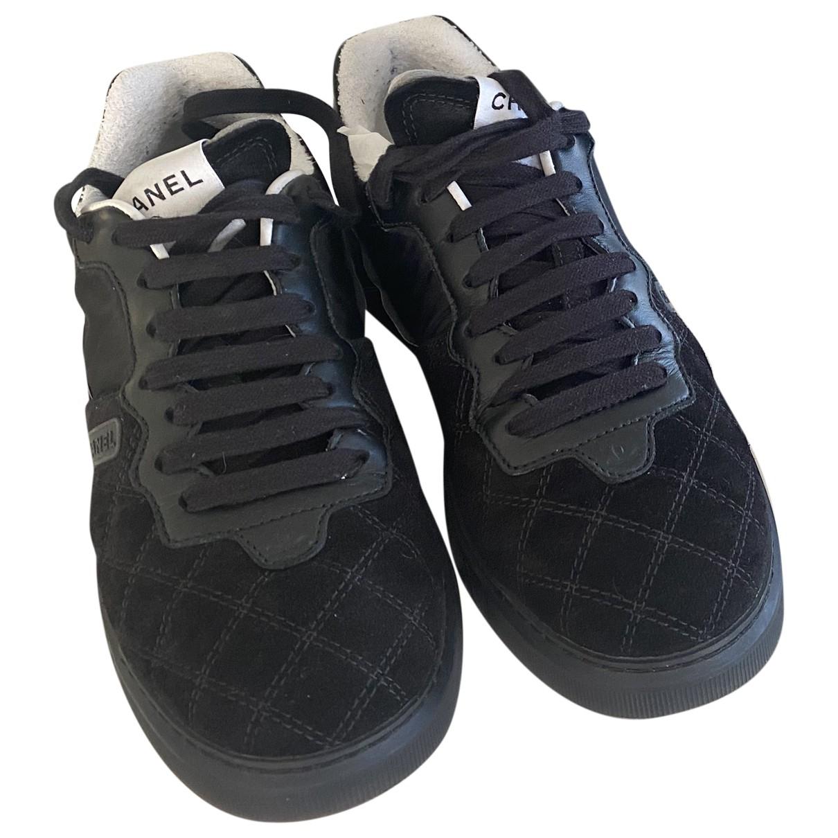 Chanel - Baskets   pour femme en cuir - noir