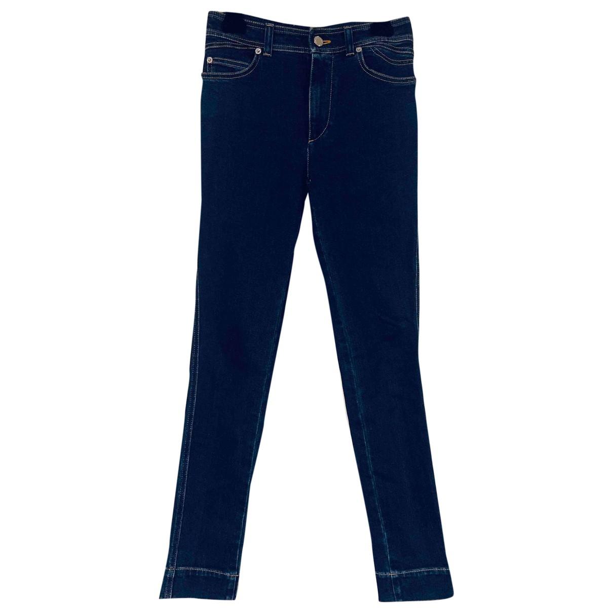 Louis Vuitton \N Blue Cotton - elasthane Jeans for Women 34 FR