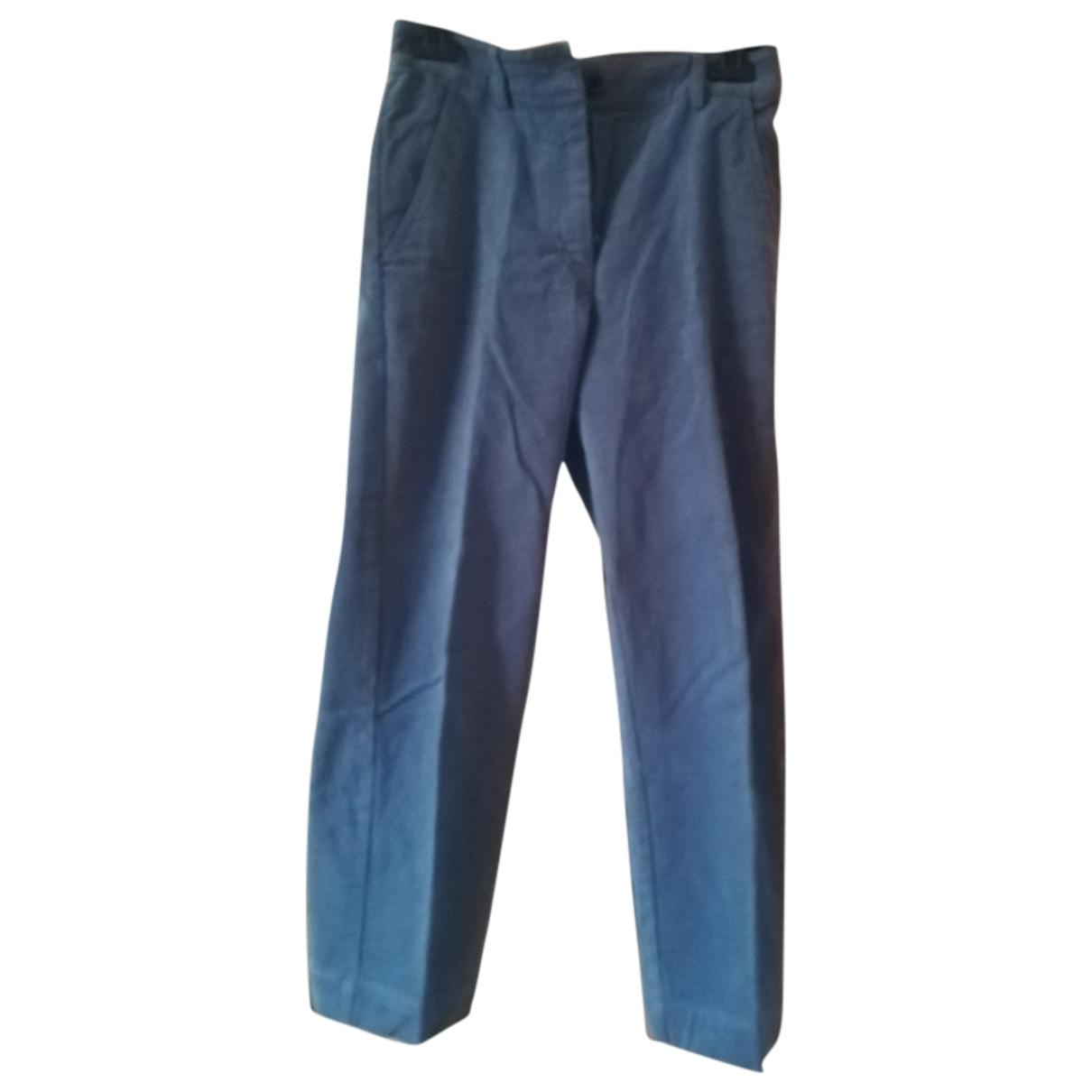 Sessun \N Blue Velvet Trousers for Women 36 FR