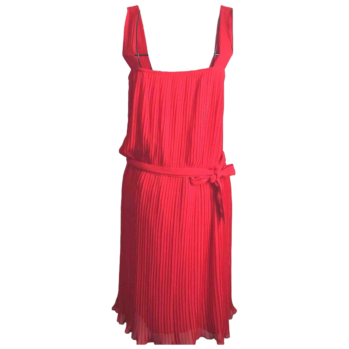 Zara \N Kleid in  Rot Synthetik