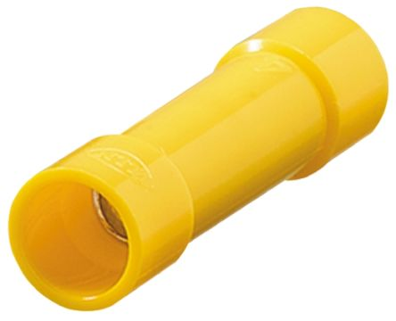 Nichifu Cennector,crimp sleeve,HC TMV B-5.5-Yell, Yellow