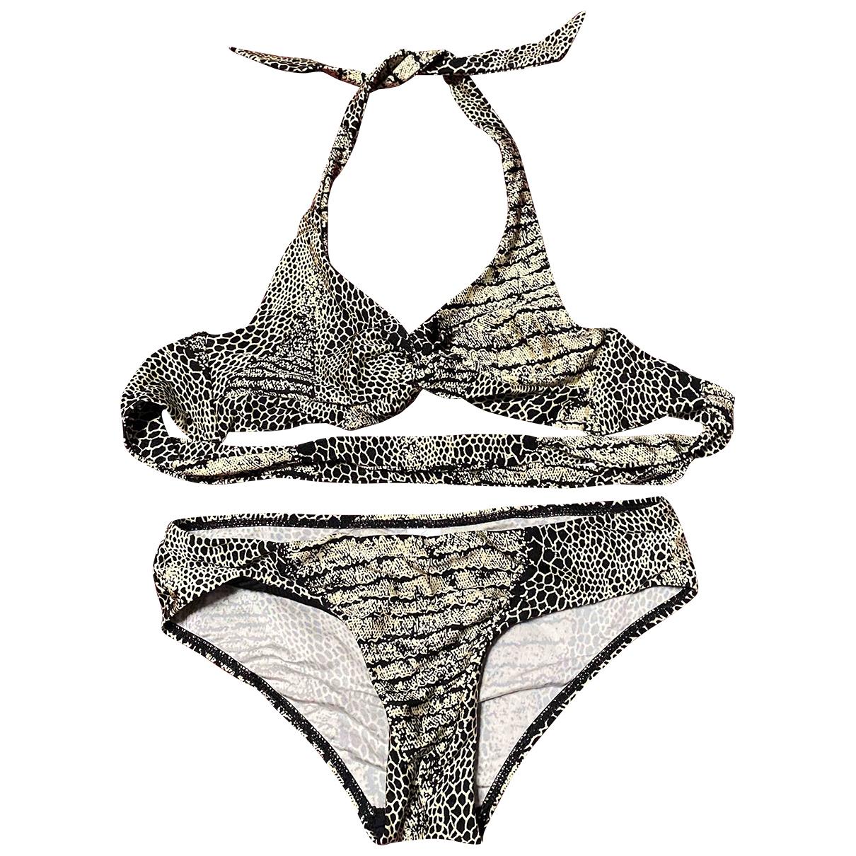 Zimmermann \N Badeanzug in  Beige Polyester