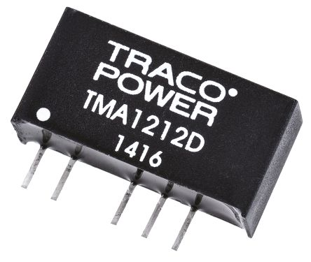 TRACOPOWER TMA 1W Isolated DC-DC Converter Through Hole, Voltage in 10.8 → 13.2 V dc, Voltage out ±12V dc