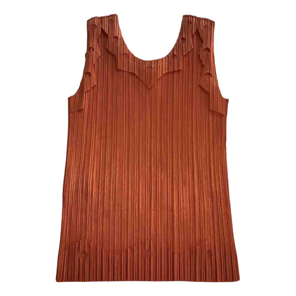 Pleats Please N Orange  top for Women 4 0-5